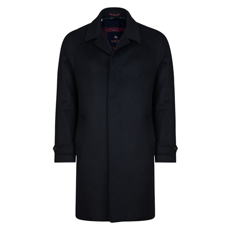 Navy Erne Raglan Overcoat  - Click to view a larger image