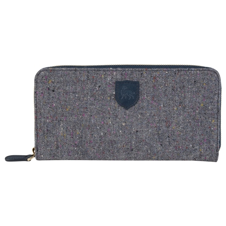 Grey Salt & Pepper Donegal Tweed Wallet   - Click to view a larger image