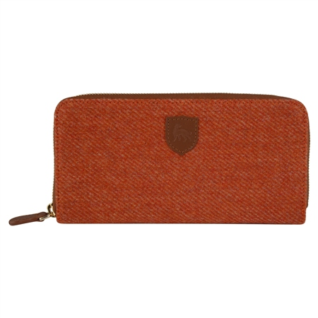 Orange Donegal Tweed Wallet   - Click to view a larger image