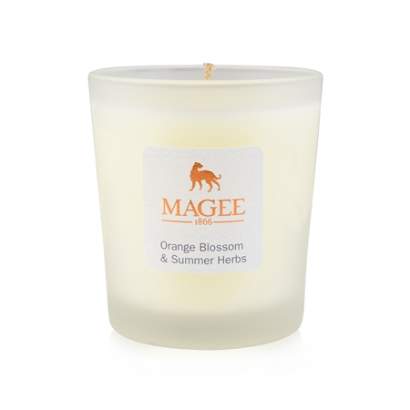Orange Blossom & Summer Herbs Natural Wax Candle  - Click to view a larger image