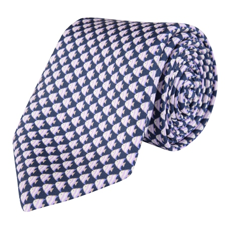 Fish Print, Blue Classic Tie  - Click to view a larger image