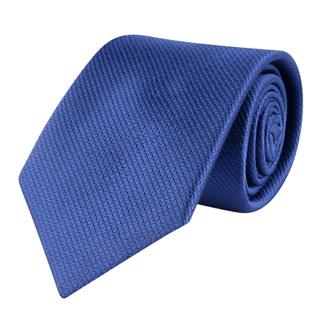 Blue Woven Classic Silk Tie  - Click to view a larger image