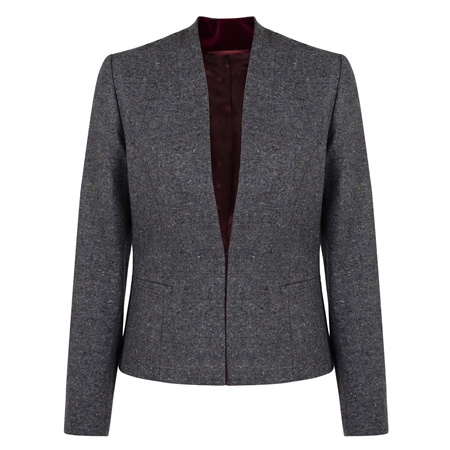 Grey Rossbeg Salt & Pepper Donegal Tweed Jacket  - Click to view a larger image