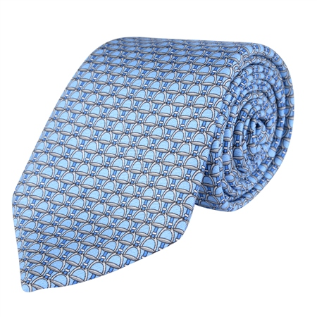 Stirrups Print, Blue Classic Tie   - Click to view a larger image