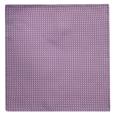 Stirrups Print, Pink Silk Pocket Square  - Click to view a larger image