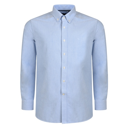 Blue Solid Oxford Button-Down Classic Fit Shirt  - Click to view a larger image