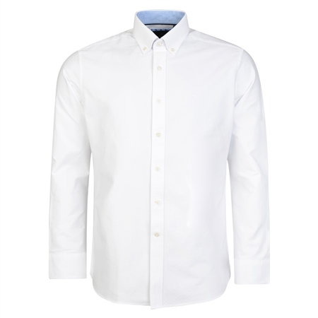 White Solid Oxford Button-Down Classic Fit Shirt  - Click to view a larger image