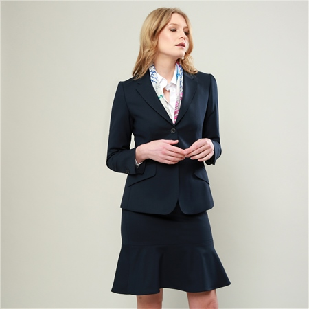 Navy Alicia Geometric Design Jacket  - Click to view a larger image