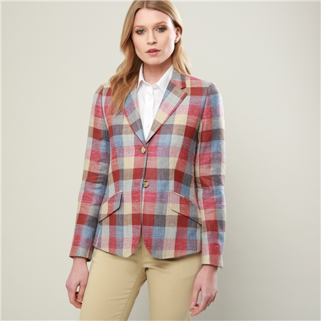 Pink, Camel & Blue Alicia Herringbone Jacket  - Click to view a larger image