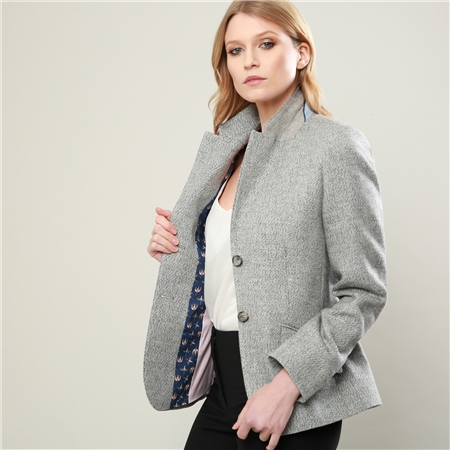 Grey Alicia Herringbone Jacket  - Click to view a larger image