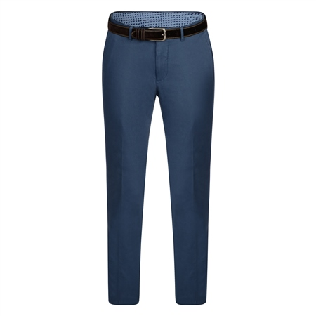 Blue Braide Washed Look Tailored Fit Trousers  - Click to view a larger image