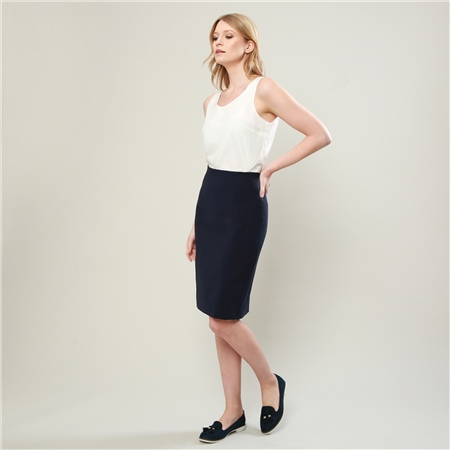 Navy Dana Tailored Fit Skirt  - Click to view a larger image