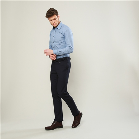 Dark Navy Moyra Slim Fit Trousers  - Click to view a larger image