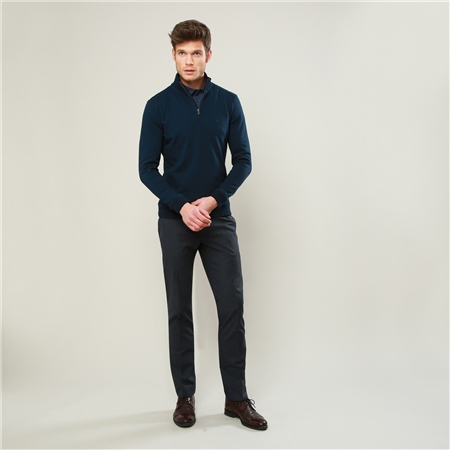 Charcoal Moyra Slim Fit Trousers  - Click to view a larger image