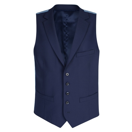Navy Mix & Match 3-Piece Tailored Fit Suit Waistcoat  - Click to view a larger image