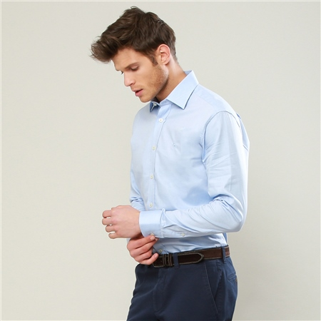 Blue Formal Altahan Tailored Fit Shirt   - Click to view a larger image