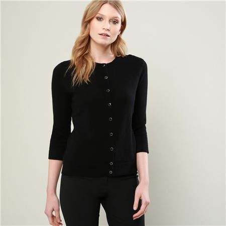 Magee 1866 - Black Beatrice Tailored Fit Cardigan