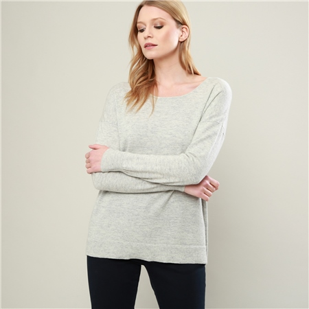 Grey Paloma Cashmere Blend Jumper  - Click to view a larger image