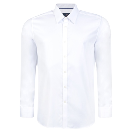 White Formal Double Cuff Tailored Fit Shirt   - Click to view a larger image