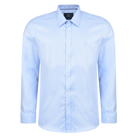 Blue Formal Double Cuff Tailored Fit Shirt   - Click to view a larger image