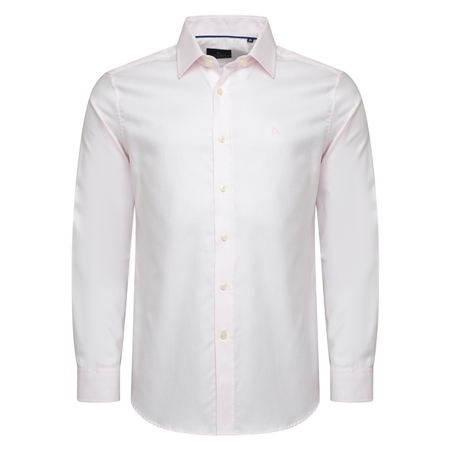 Pink Tailored Fit Formal Dress Collar Shirt  - Click to view a larger image