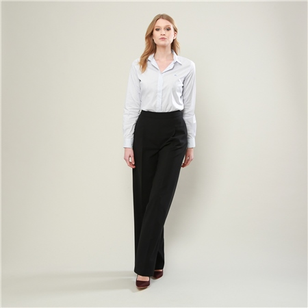 Black Willow Wide Leg Trousers  - Click to view a larger image