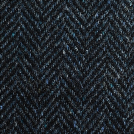 Blue Herringbone Flecked Donegal Tweed  - Click to view a larger image
