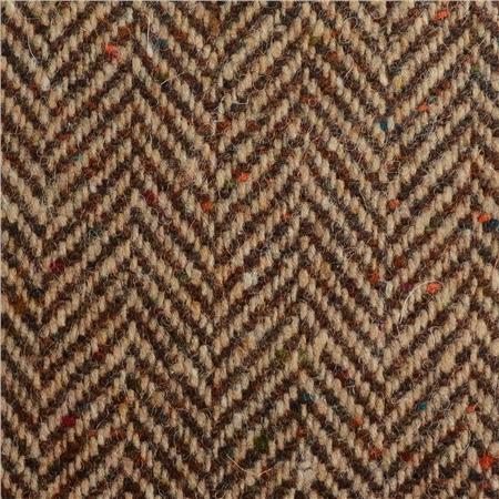 Brown & Oat Herringbone Flecked Donegal Tweed