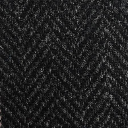 Black Grey Herringbone Donegal Tweed Seasonal Collections From
