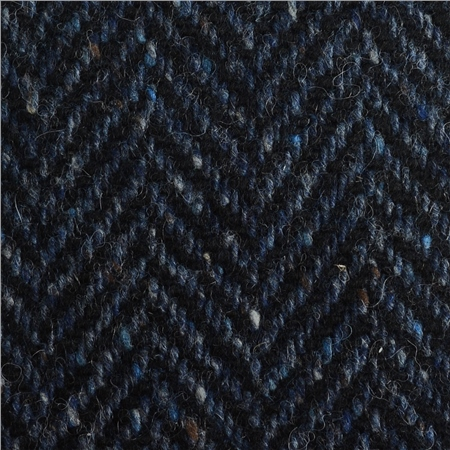 Navy & Blue Herringbone Flecked Donegal Tweed  - Click to view a larger image