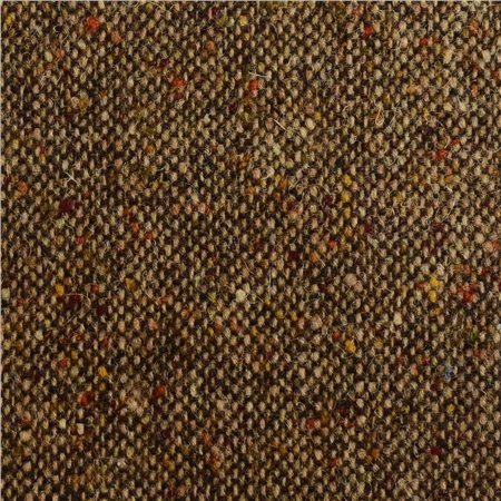 Brown & Oat Salt & Pepper Flecked Donegal Tweed   - Click to view a larger image