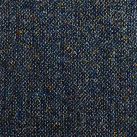 Navy Salt & Pepper Flecked Donegal Tweed  - Click to view a larger image