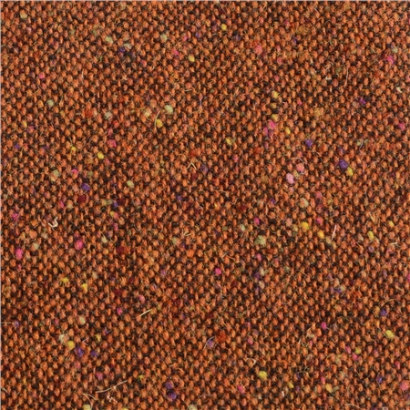 Rust Salt & Pepper Flecked Donegal Tweed  - Click to view a larger image