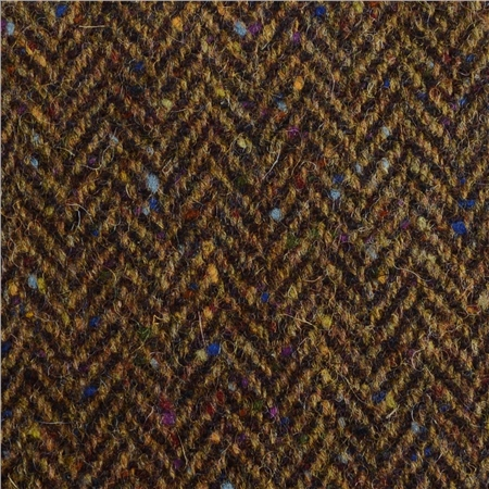 Brown Herringbone With A Coloured Fleck Donegal Tweed  - Click to view a larger image
