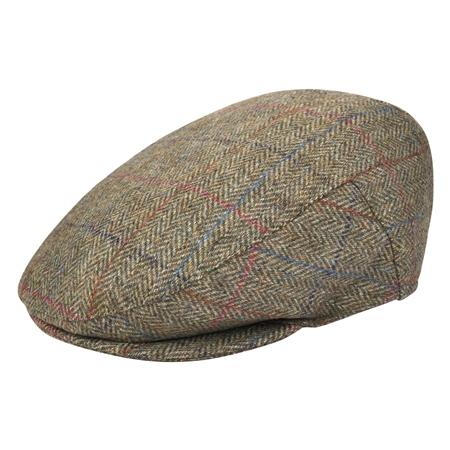Oat Herringbone Donegal Tweed Flat Cap  74690ec0ed5