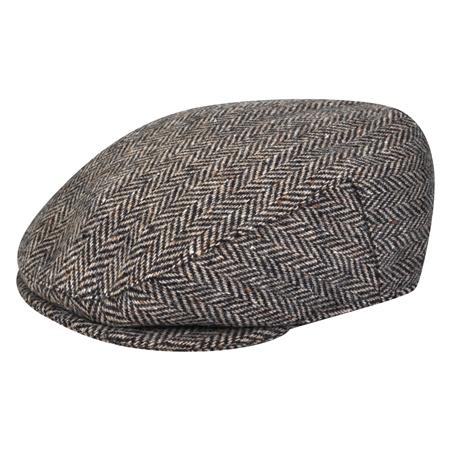 b4609525 Brown Herringbone Donegal Tweed Flat Cap   Seasonal collections from ...