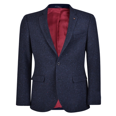 Magee 1866 - Navy Salt & Pepper Handwoven Donegal Tweed Tailored Fit Jacket