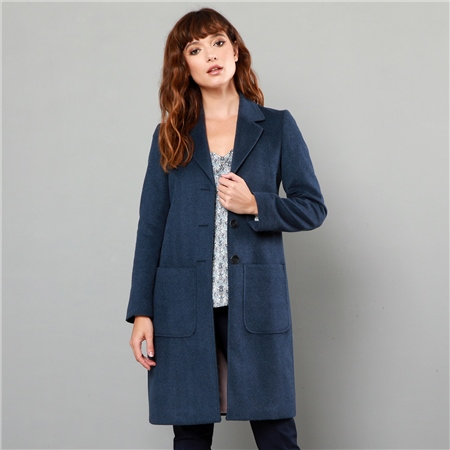 Navy Emma Patch Pocket Coat  - Click to view a larger image