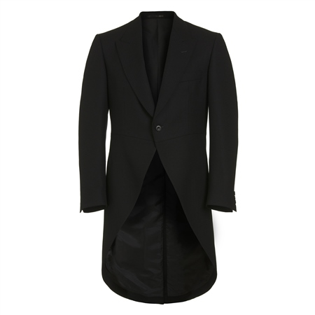 Black Classic Fit  Morning Suit Tail Coat  - Click to view a larger image