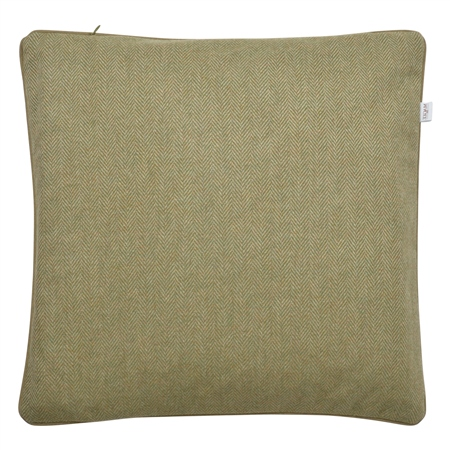 "18"" Green Herringbone Wool & Cashmere Cushion  - Click to view a larger image"