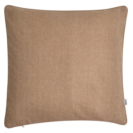 "18"" Light Brown Herringbone Wool & Cashmere Cushion  - Click to view a larger image"