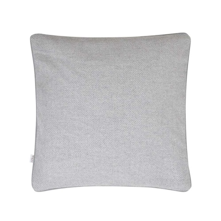 "18"" Light Grey Herringbone Donegal Tweed Cushion  - Click to view a larger image"