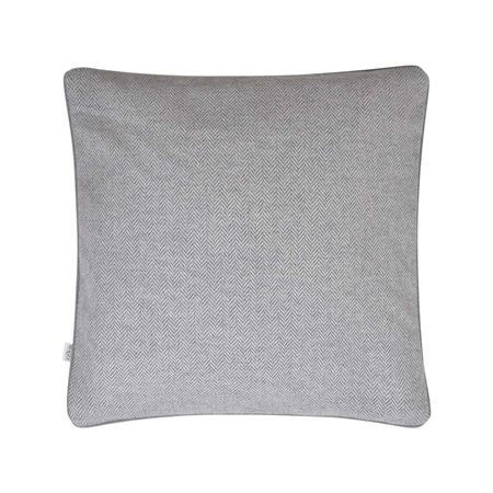"18"" Grey Herringbone Donegal Tweed Cushion  - Click to view a larger image"