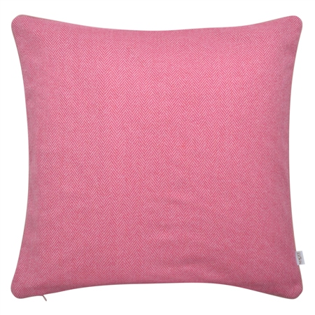 "18"" Pink Herringbone Donegal Tweed Cushion  - Click to view a larger image"