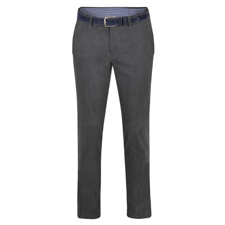 Grey Braid Washed Look Slim Tailored Fit Trousers  - Click to view a larger image