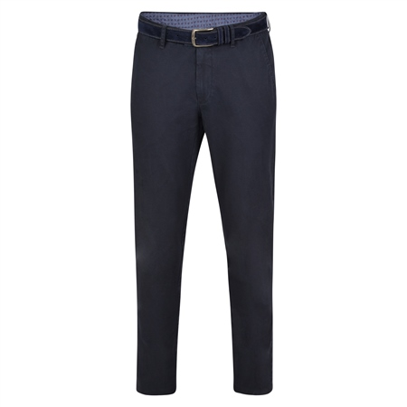 Dark Navy Braid Washed Look Slim Fit Trousers  - Click to view a larger image