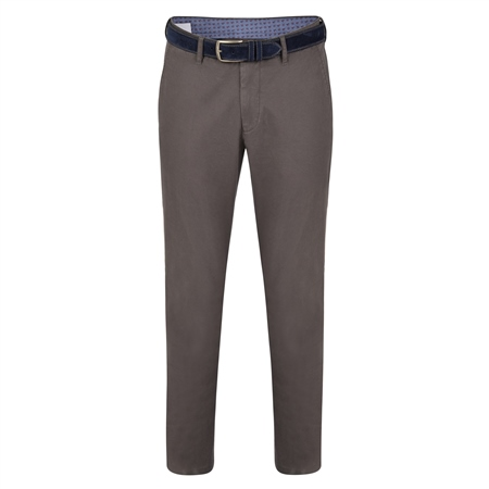 Grey Braid Washed Look Slim Fit Trousers  - Click to view a larger image