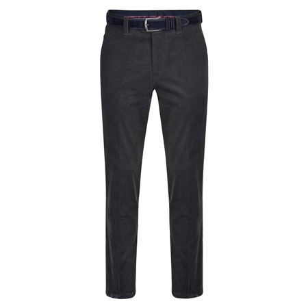 Grey Dungloe Needle Cord Classic Fit Trousers  - Click to view a larger image
