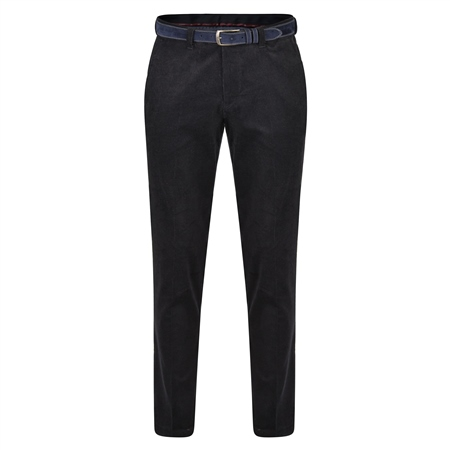 Navy Dungloe Needle Cord Classic Fit Trousers