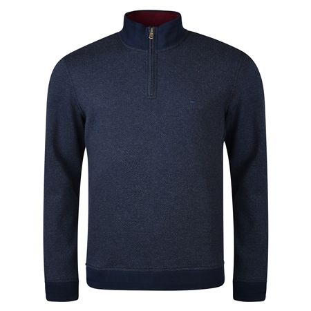 Navy Edrim 1/4 Zip Sweater  - Click to view a larger image